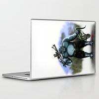hunter Laptop & iPad Skins featuring Hunter by Goldman