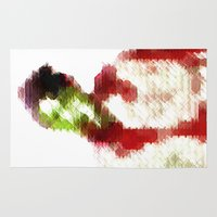 8 bit Area & Throw Rugs featuring 8-bit zombie by Jessica Slater Design & Illustration