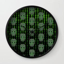 Skull Hacker (pattern version) Wall Clock