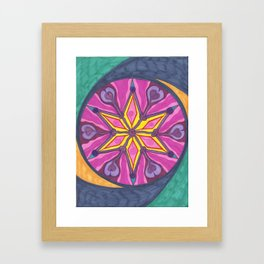 Star Swish Framed Art Print