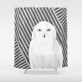 White Owl Shower Curtain
