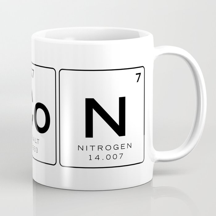 The Chemistry Of Bacon Funny Nerdy Periodic Table Coffee Mug