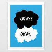 okay Art Prints featuring Okay by alboradas