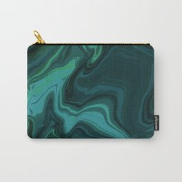 Acrylic Pour (Green) Carry-All Pouch