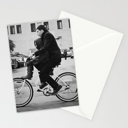 Brothers biking  Stationery Cards