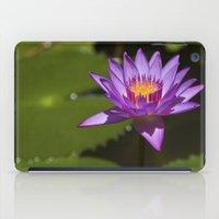 lotus flower iPad Cases featuring Lotus by Maria Heyens