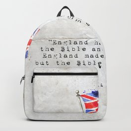 """Victor Hugo """"England has two books, the Bible and Shakespeare."""" Backpack"""