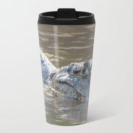 Dangerous looking alligator partially submerged Travel Mug