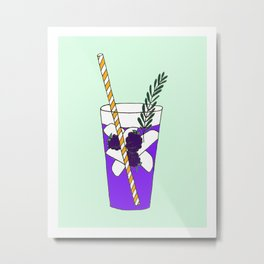 Summer Cocktail - Rosemary Blackberry Metal Print