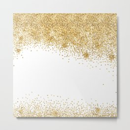 Sparkling golden glitter confetti effect II #Society6 Metal Print