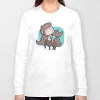 sagittarius Long Sleeve T-shirts featuring Sagittarius by Chiara Zava
