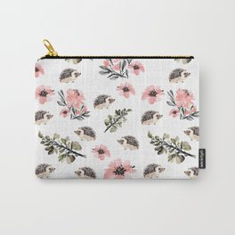 Floral hedgehog Carry-All Pouch