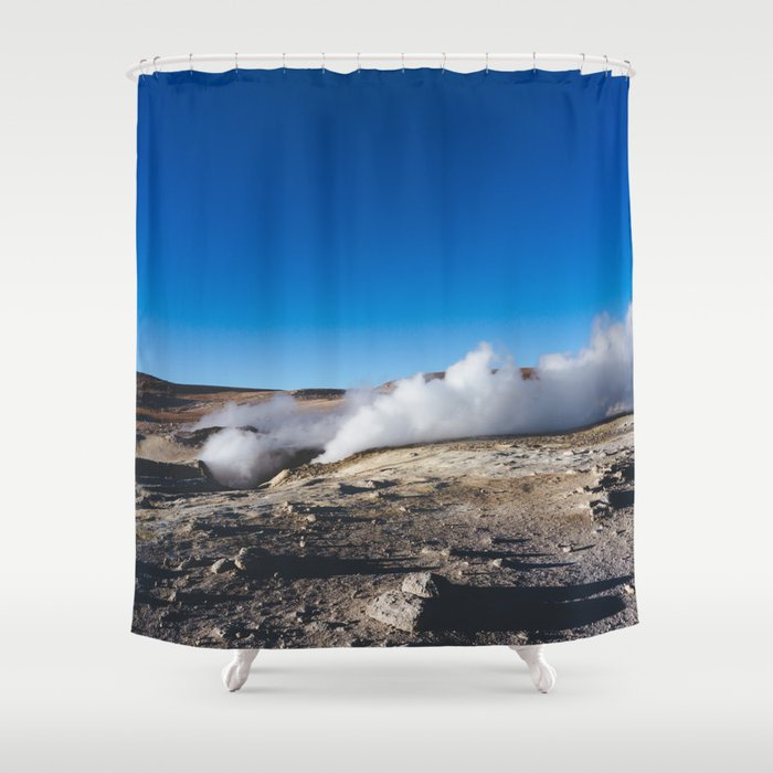 Geysers in the Atacama Desert, Bolivia Shower Curtain