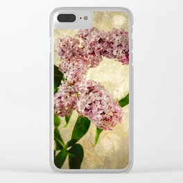 Vintage Lilacs in Bloom Clear iPhone Case