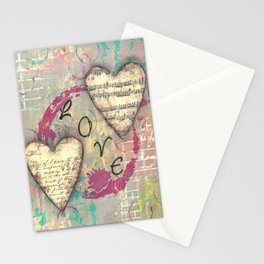 Two Hearts in Love Stationery Cards