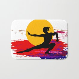 Martial art, karate, judo, aikido, self defence Bath Mat