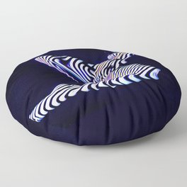 8238s-KMA Sensual Blue Striped Nude Woman Aroused Floor Pillow