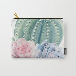 Cactus Rose Succulents Garden Carry-All Pouch