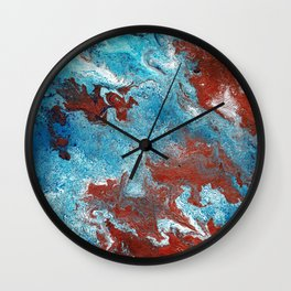 Marble in Copper in Blue Wall Clock