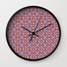Multicolored Pastel Shade Seamless Tile Pattern Wall Clock