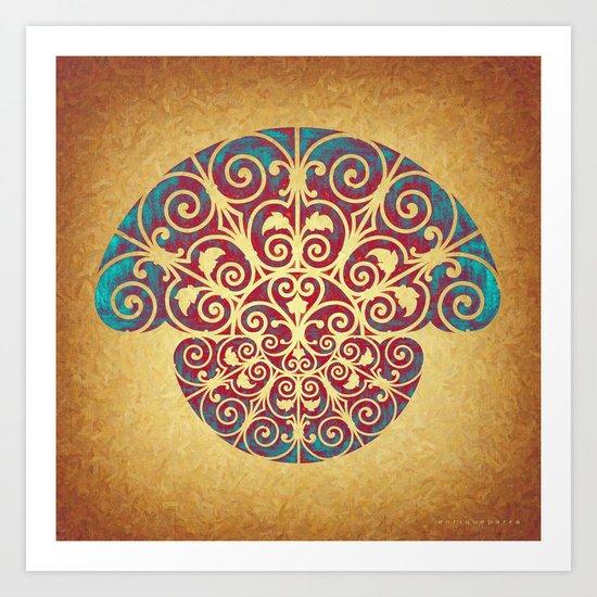 Medusa Barroca Art Print