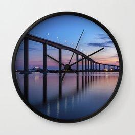 The Jordan Bridge at Twilight Wall Clock