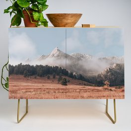 Magical misty morning at Chautauqua Park Credenza