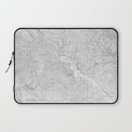 Methow Valley Topography - SeriousFunStudio Laptop Sleeve