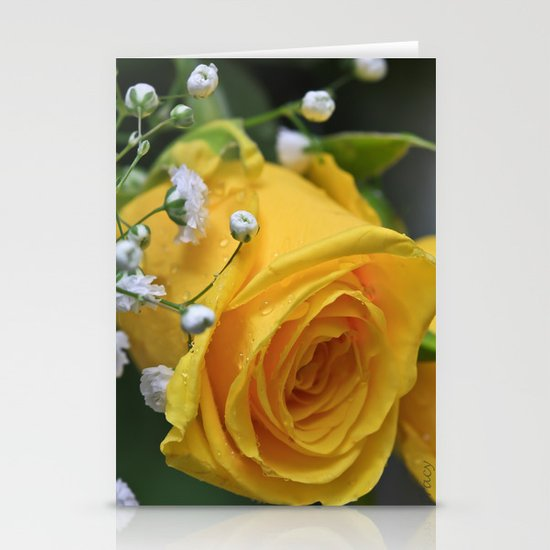 Texas Rose Stationery Cards