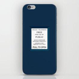 Doctor Who (Tardis Door) Police Box iPhone Skin