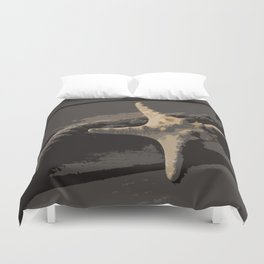 Starfish and boat rope on the pier - dark background - #Society6 - #buyart Duvet Cover