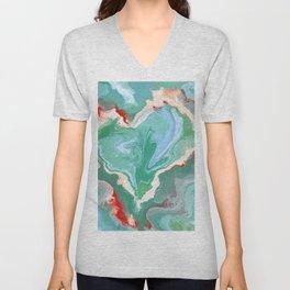 The koi fish pond Unisex V-Neck
