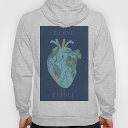 love to travel-world map 2 Hoody