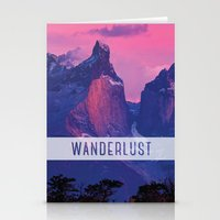 wanderlust Stationery Cards featuring Wanderlust by snaticky