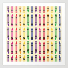 Well Color Me Crayons Art Print