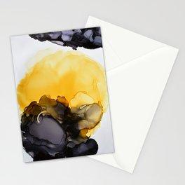 Black & Yellow Smoked Stationery Cards