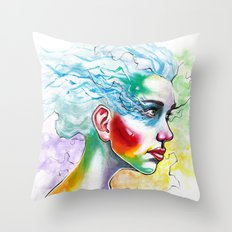 Portrait One Throw Pillow