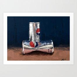 Light on tin Art Print