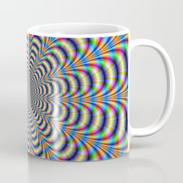 Rosette in Yellow and Blue Coffee Mug