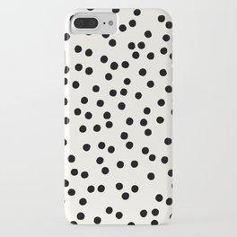 DOTS DOTS DOTS BLACK iPhone Case
