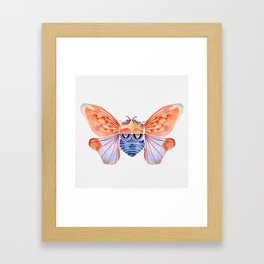 Cicada Dreaming-Watercolor Framed Art Print