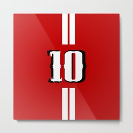Ten jersey number Metal Print