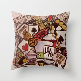 The hurrier I go, the behinder I get Throw Pillow