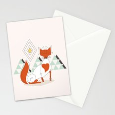 Fox in the mountain Stationery Cards