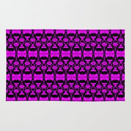 Dividers 02 in Purple over Black Rug