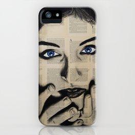 Blue Eyes Girl iPhone Case