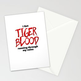 Tiger Blood Stationery Cards