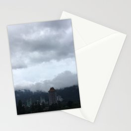 Beautiful clouds over the Malaysian city Stationery Cards