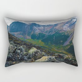 Down in the Valley, Pyramid Mt in Jasper National Park, Canada Rectangular Pillow
