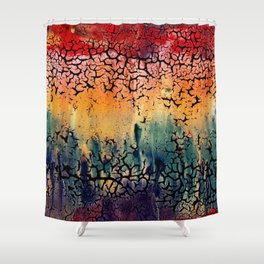 Sunset into the Forest - closeup Shower Curtain